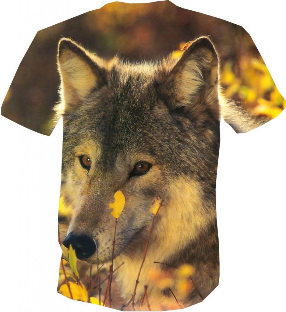футболка 3D волк добрый