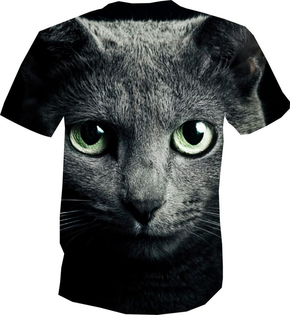 футболка 3D с кошкой
