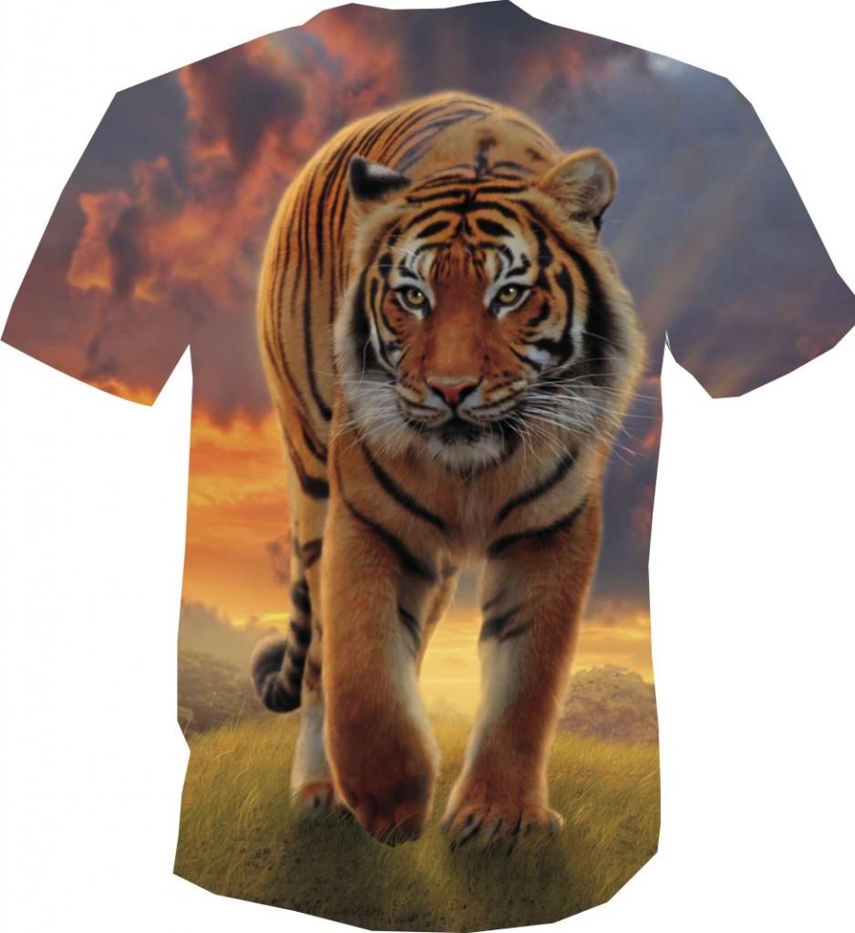 футболка 3D тигр