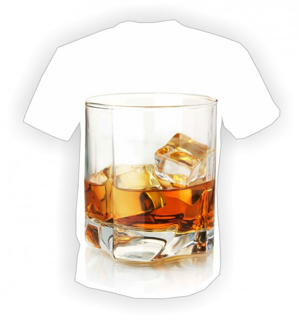 футболка стакан виски