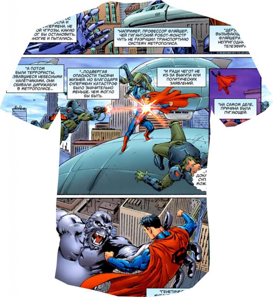 футболка 3D комикс