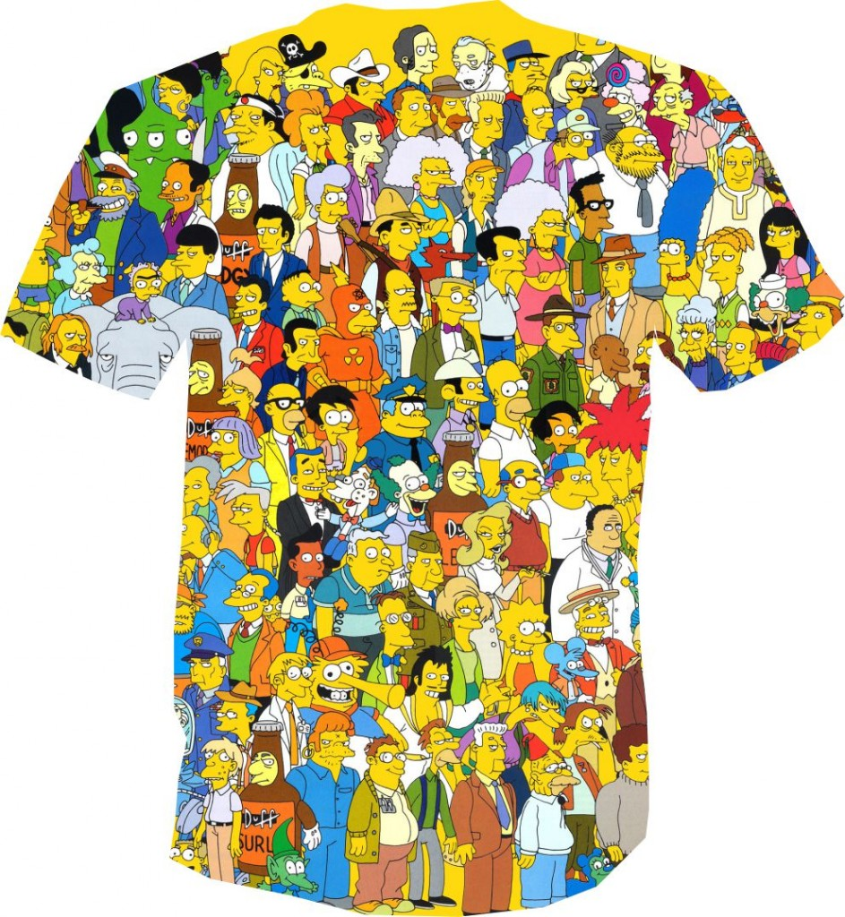 футболка 3D симпсоны