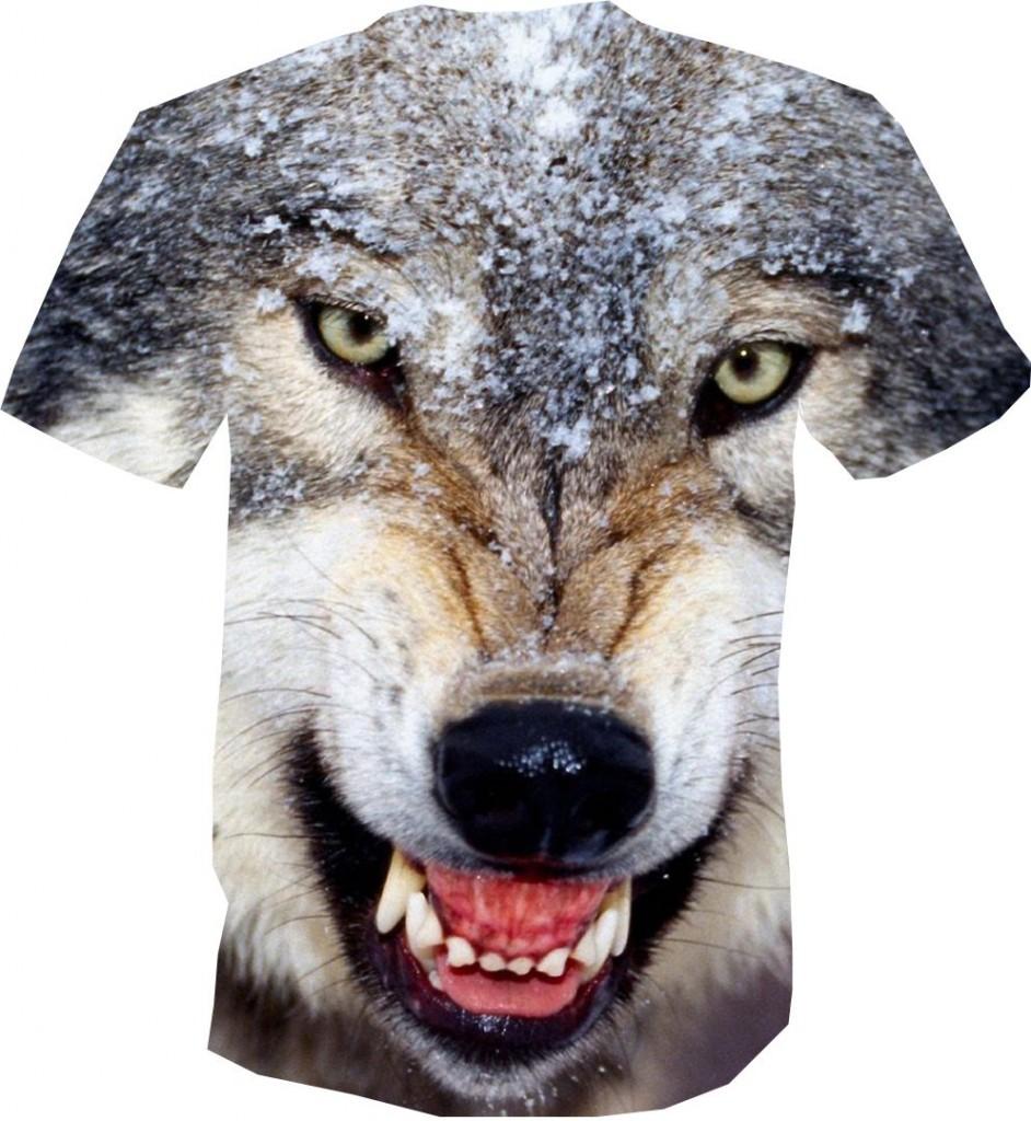 Футболка волк злой