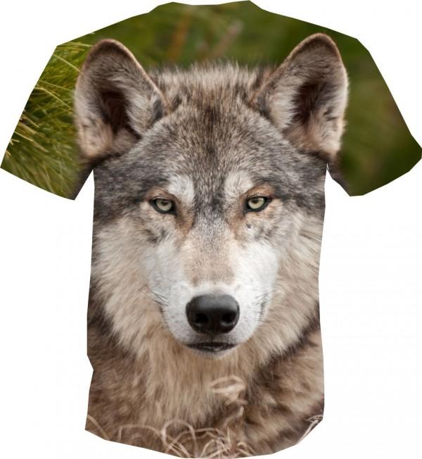 футболка волк суровый