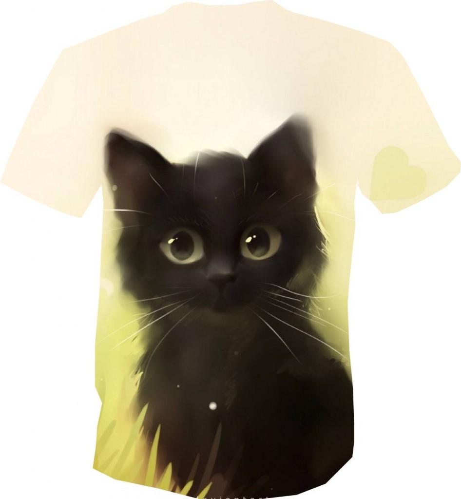 футболка 3D с котенком