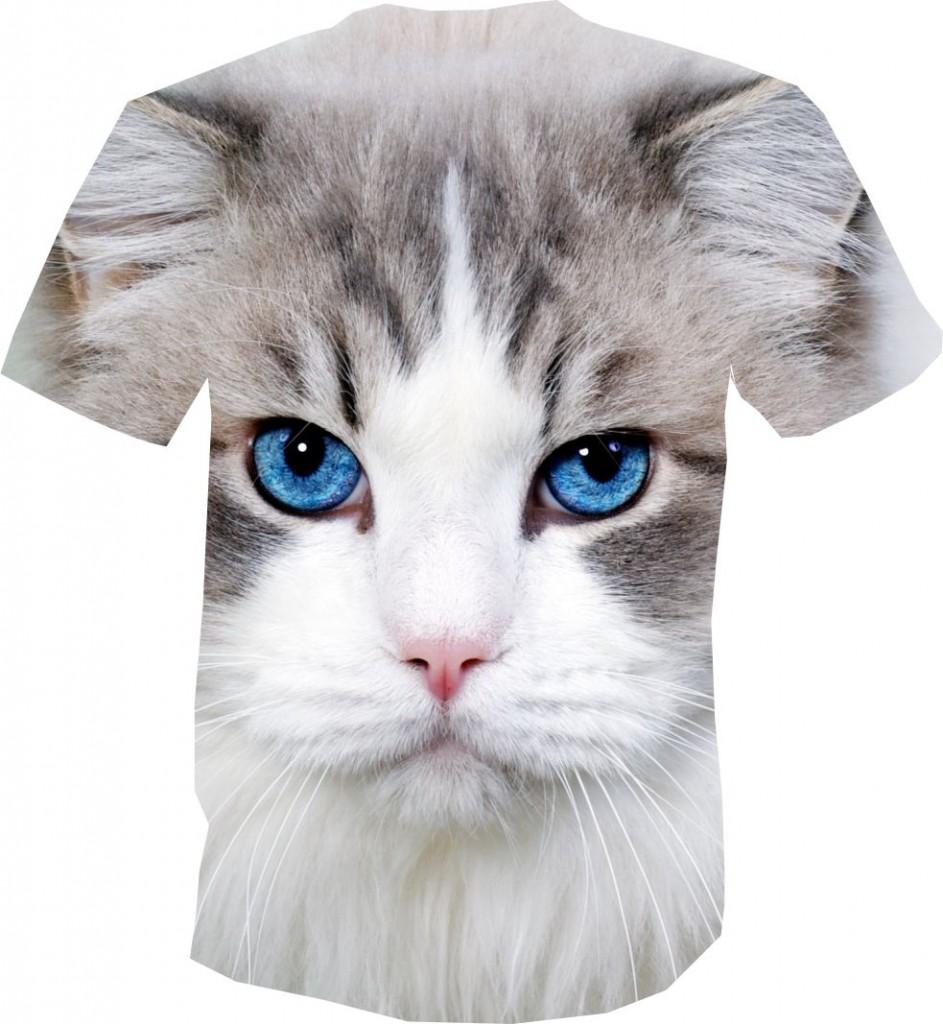 футболка 3D с котом