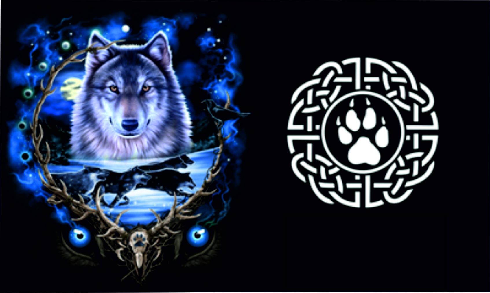 футболка с волком
